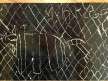Scratch paper drawing of black rhinoceros
