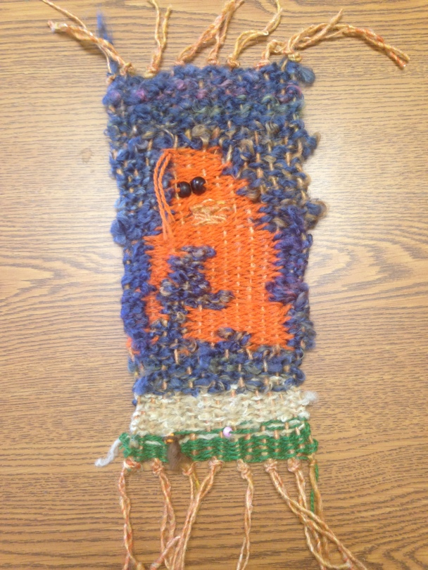 Yarn weaving of oragutan